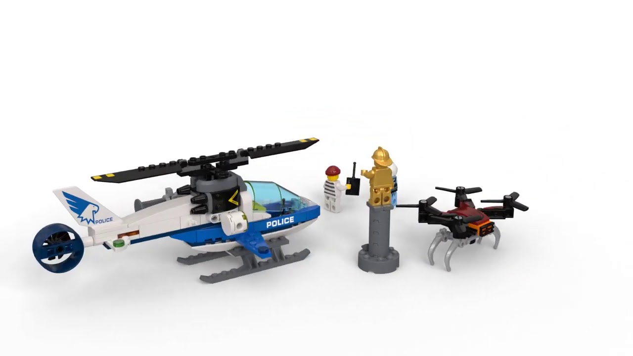 Lego 60207 Sky Police Drone Chase Lego City Youtube