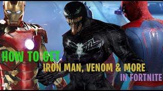 Fortnite: Iron-Man, Venom, Spiderman, & Custom Skin Textures Free Download | ! Pc Only!