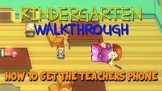 Kindergarten Walkthrough - Kindergarten Gameplay - Buggs/How to get the Teachers Phone - Let's Play