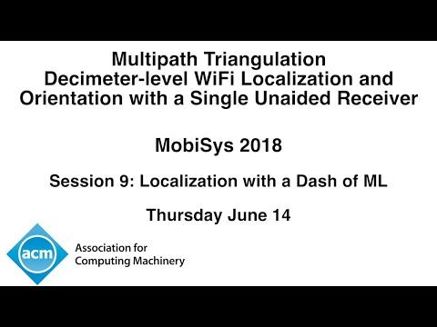 MobiSys 2018 - Decimeter-level WiFi Localization and