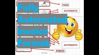How To Make Invoice In Excel Video Tutorial Youtube