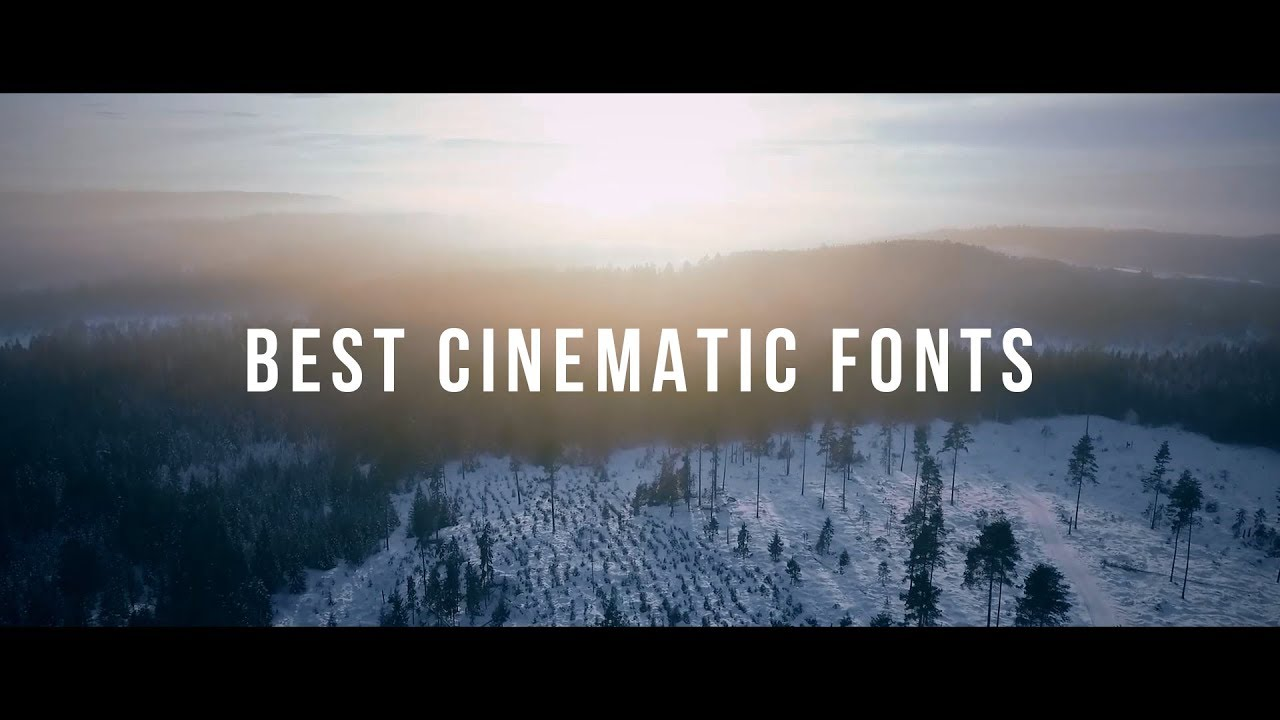 Best Free Cinematic Fonts For Your Videos 2018  Part 1 -4059