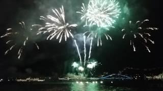 Салют в Севастополе в день ВМФ.
