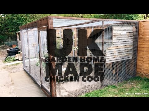 How to build A chicken coop in a UK urban back garden.