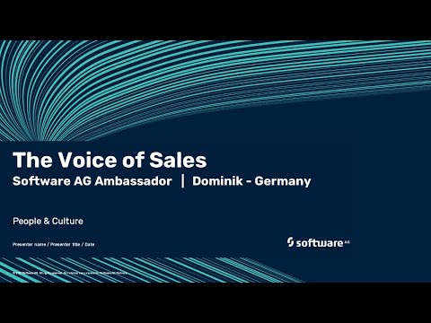 The Voice of Sales | Software AG's ambassador Dominik | Germany