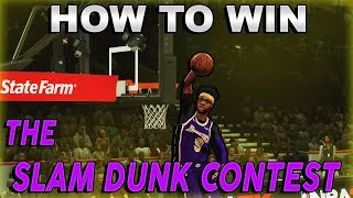 HOW TO WIN NBA 2K20 DUNK CONTEST | NBA 2K20 TUTORIAL!!