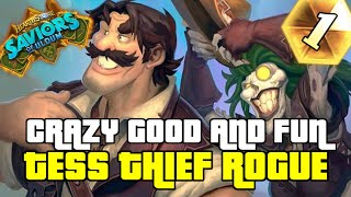 THIEF QUEST ROGUE, THIS DECK IS CRAZY | GUIDE TO THIEF TESS ROGUE | SAVIORS OF ULDUM | HEARTHSTONE