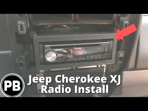 1997  2001 Jeep Cherokee XJ Stereo Install Pioneer DEH