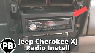 1997 - 2001 Jeep Cherokee XJ Stereo Install Pioneer DEH-X4800BT