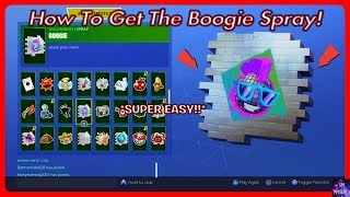 How To Get The BOOGIE SPRAY! | Fortnite Battle Royale