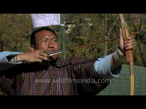 Archery experts practice at Changlimithang Stadium in Bhutan