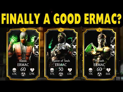 MKX Mobile. 3 Ermacs Team. Who Is The Best Ermac? thumbnail