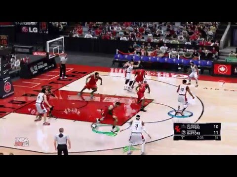 NBA 2K16 [PC Gameplay] Los Angeles Clippers VS Toronto Raptors
