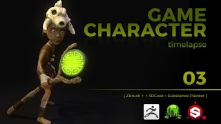 GAME CHARACTER TIMELAPSE | ZBRUSH, 3DCOAT and SUBSTANCE PAINTER | pt 03