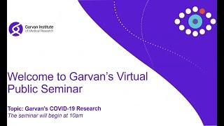 Garvan's COVID-19 research: Virtual public seminar