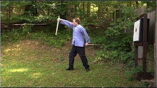 Swordsman vs. Arrow- Sword Cuts Speeding Arrow