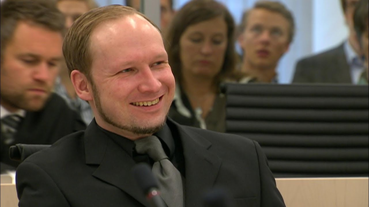 Image result for anders breivik laughing