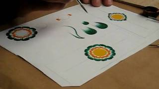 Painting Traditional Floral Designs in Lima, Peru
