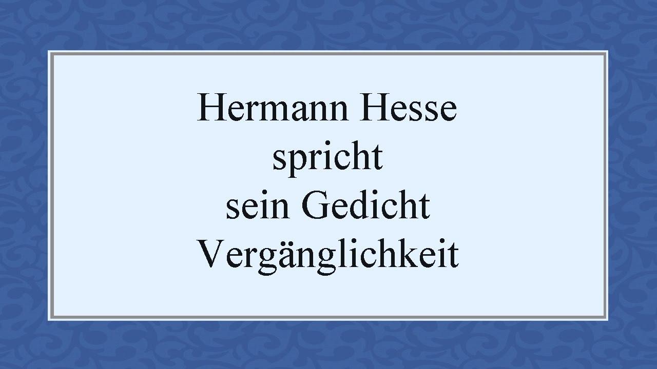 Hermann hesse gedicht wiedersehen