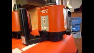 Laser plumb bob hilti for Niveau laser interieur exterieur