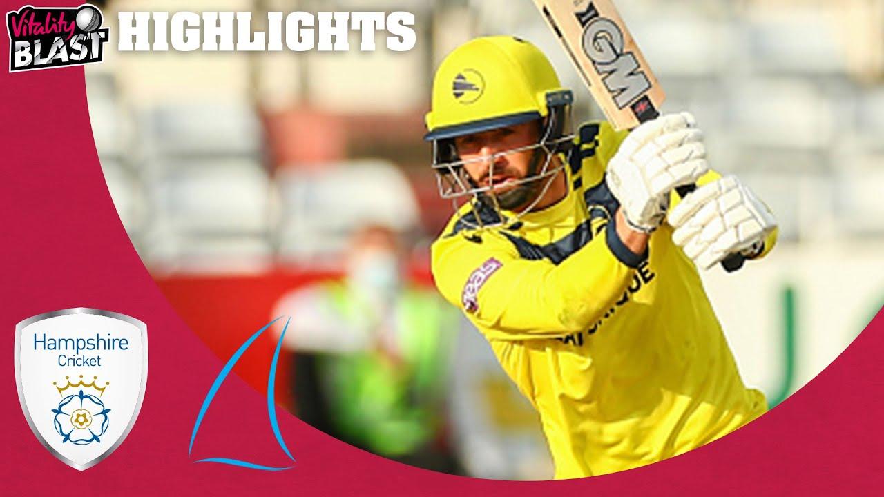 James Vince Hits 109 off 59 Balls | Hampshire v Sussex - Match Highlights | Vitality Blast 2021