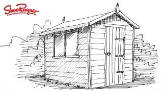 How to draw a garden shed