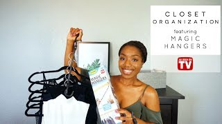Closet Organization feat. Magic Hangers (As Seen on TV) | Rescue My Space