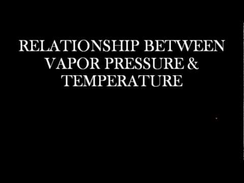 Relationship Between Vapor Pressure and Temperature
