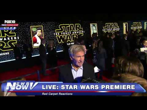 FNN: Star Wars The Force Awakens Premiere - Red Carpet Interviews