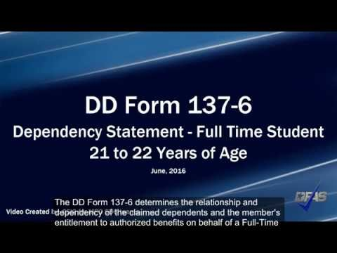 Full-Time Student DD Form 137-6