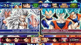 Super Saiyajin´s 5 VS Super Saiyajin´s Blue - Dragon Ball Z Budokai Tenkaichi 3