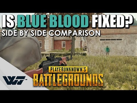 TEST: Is BLUE BLOOD fixed? Side-By-Side comparison PUBG (-KoreanRating / Green Blood)
