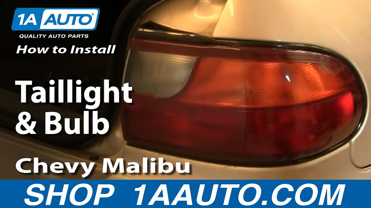 How to Replace Tail Light 97-03 Chevy Malibu