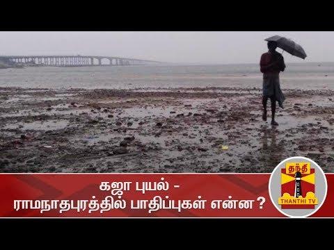 கஜா புயல் - ராமநாதபுரத்தில் பாதிப்புகள் என்ன? | GajaCyclone | ThanthiTV