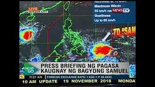 NTG: Press briefing ng PAGASA kaugnay ng bagyong Samuel