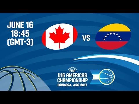 Canada vs Venezuela - Group A - FIBA U16 Americas Championship 2017