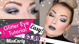 ✨How To: Glitter Eye Make-Up Tutorial ✨ Essence / NYX | Holiday! EASY!