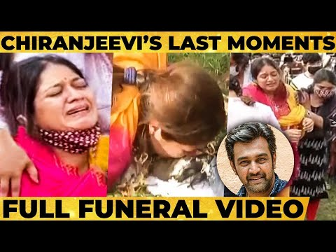 Rip Chiranjeevi Sarja S Wife Meghna Raj Burst Out In Tears Final Journey Heart Breaking Video Youtube