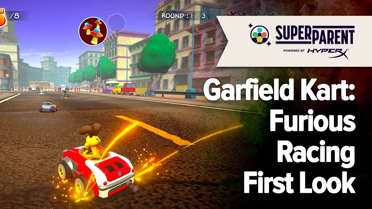 Garfield Kart Furious Racing A Superparent First Look Superparent