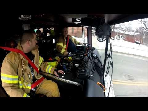 Engine 49 responding to an alarm on Elm Street.