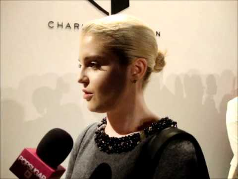 Kelly Osbourne at Charlotte Ronson Pre show interview MBFW NY SS 2012 Anastasia Lambrou
