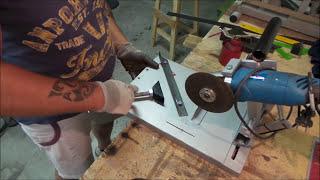 🔨 Battuta taglio a 45° per supporto smerigliatrice angolare in ferro fai da te