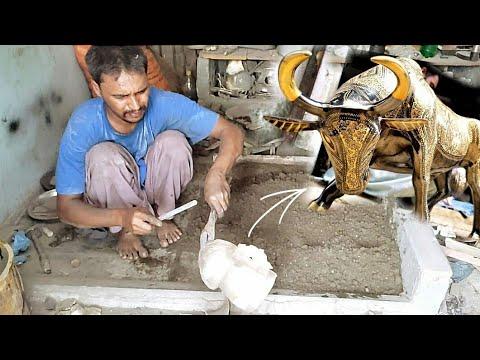 Download making riding bull in brass casting || pengecoran kuningan