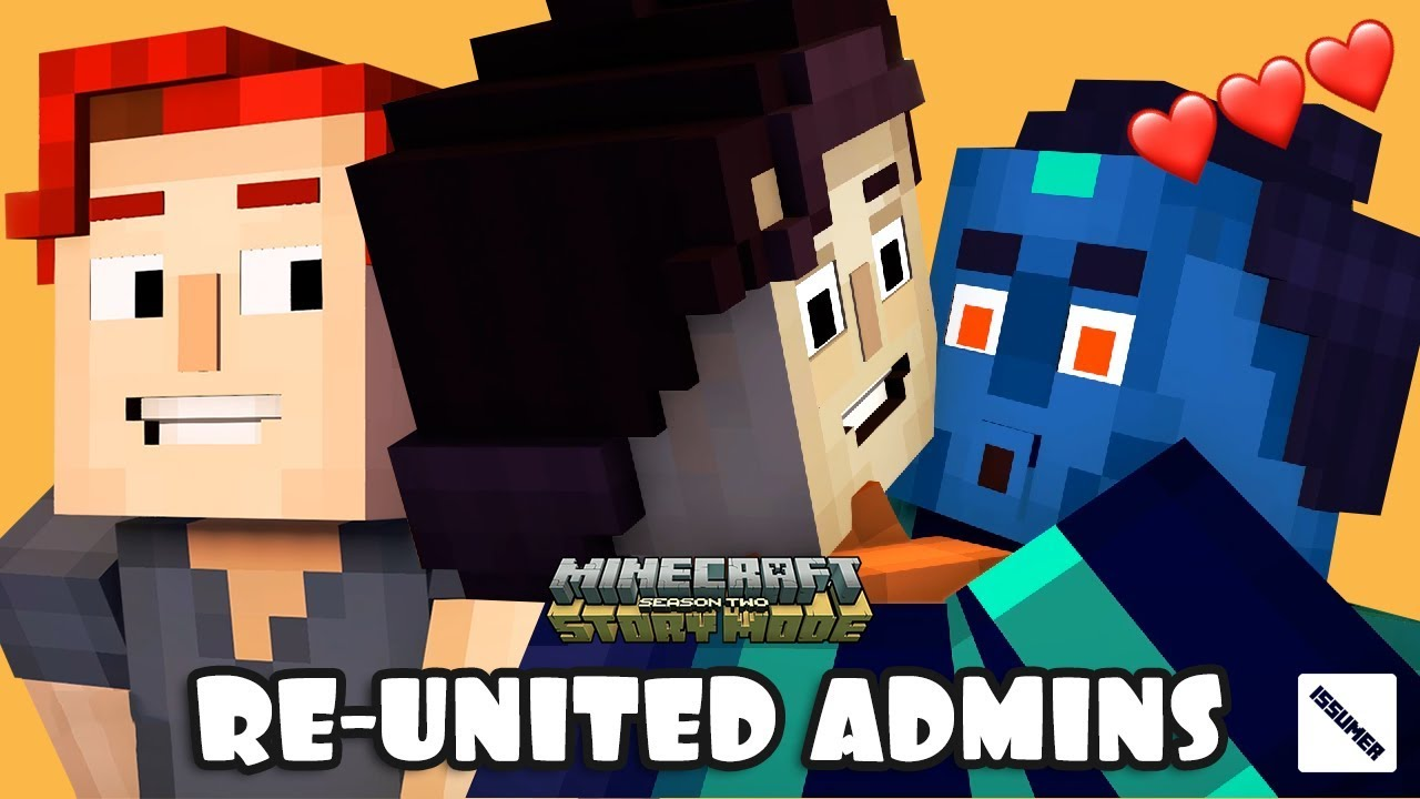 f0d92e282a157 RE-UNITED ADMINS 😂😂😂 ROMEO XARA FRED HAPPY ENDING!!! Minecraft Story  Mode Season 2 Episode 5