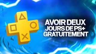 (PS4) ASTUCE : Obtenir 2 jours de PlayStation Plus gratuitement !