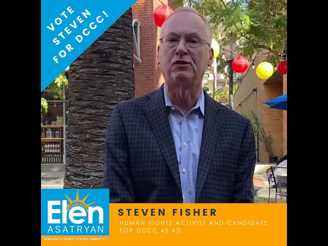 Meet Steven Fisher, Candidate for Democratic County Central Committee 43AD