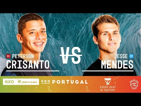 Peterson Crisanto Vs. Jesse Mendes - Round Of 16, Heat 6 - MEO Rip Curl Pro Portugal 2019