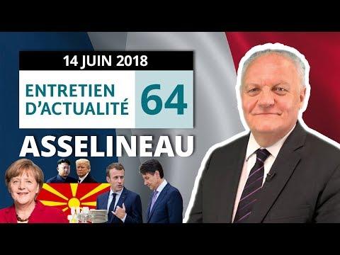 EA64 : Aquarius - Privatisation - Merkel - G7 - OCS - Trump - Kim Jong-un - Vaisselle - Exit tax
