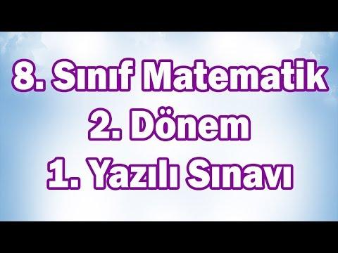 8. Sınıf Matematik 2. Dönem 1. Yazılı Sınavı Hazırlık (LGS Uygun) | CANLI