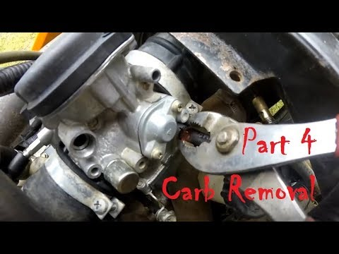 bombardier engine diagram bombardier traxter 500 project part 4 carb removal diy atv  bombardier traxter 500 project part 4
